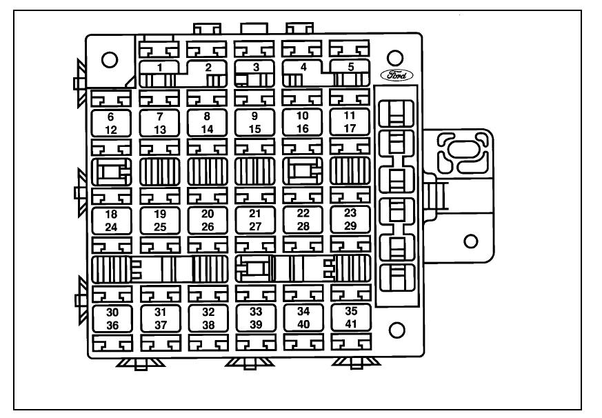 Diagrama De Fusibles Ford Windstar 1997 Opinautos