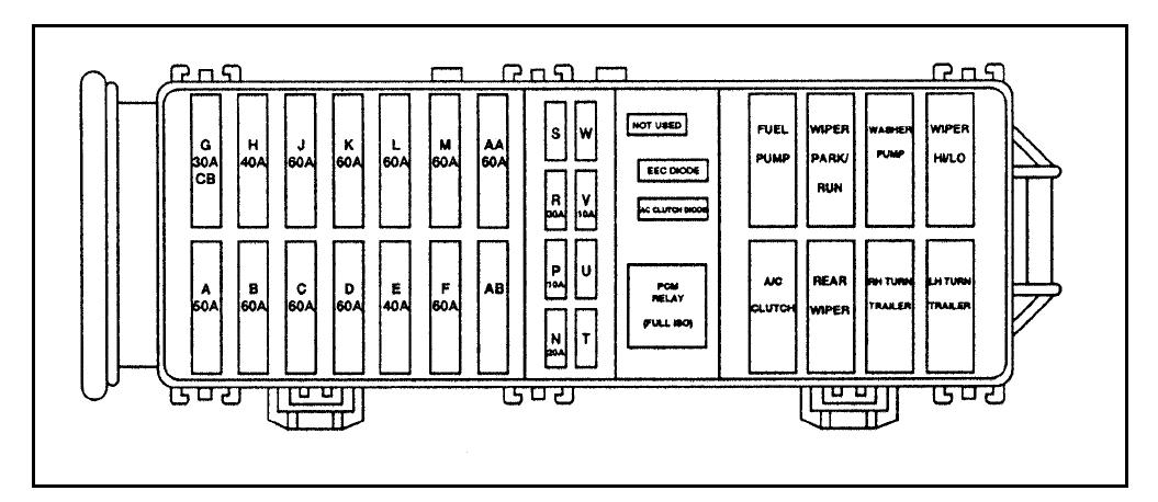 Diagrama De Fusibles Ford Windstar 1998 Opinautos